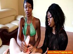 Nubian ebonies playing with dick