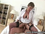Mature stocking brit Lady Sonia fuck and facial -- on 10/26/2012