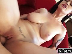 Lustful amateur girlfriend Katrina Jade fucks on camera