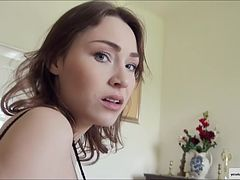 Sexy and cute tourist teen Macy tapes her first anal experience