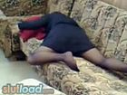 My mom home alone masturbating on couch