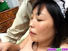 Crazy Japanese granny sex